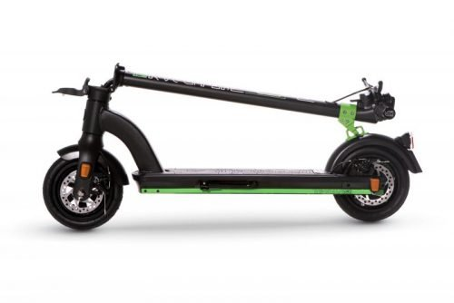 the urban xr1 black folded e scooter