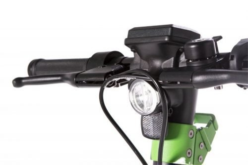 the urban xr1 black front light e scooter