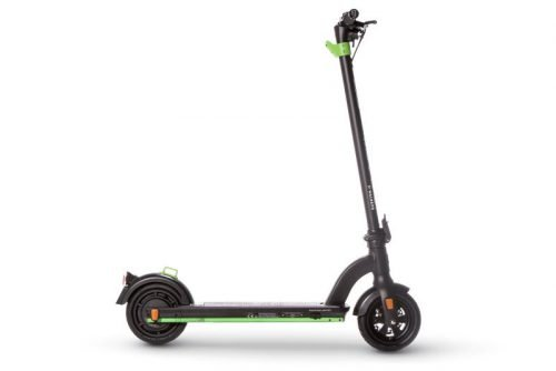 the urban xr1 black side view e scooter
